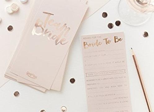 Hen Do Bride Advice Cards
