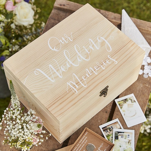 Wedding Wooden Memory Box