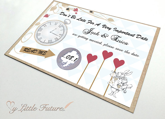 A very important date, save the date -scratch card