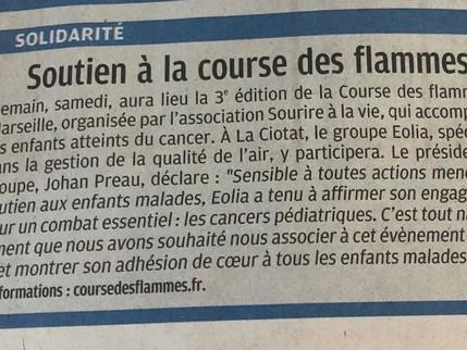 Eolia soutien la course des flammes, La Provence