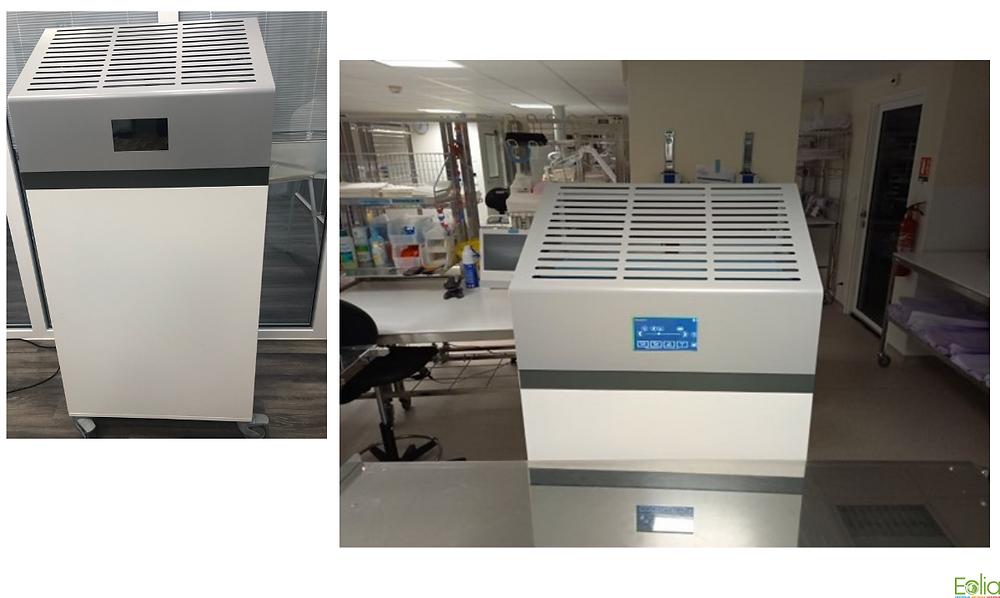 Eolia realisé la mise en place d'épurateurs d'air au sein du service stérilisation de l'hôpital saint-joseph