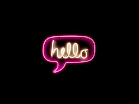 A brief hello!