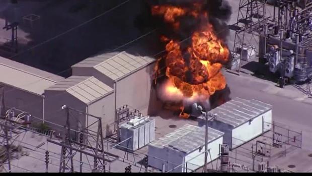 Substation Transformer Fire