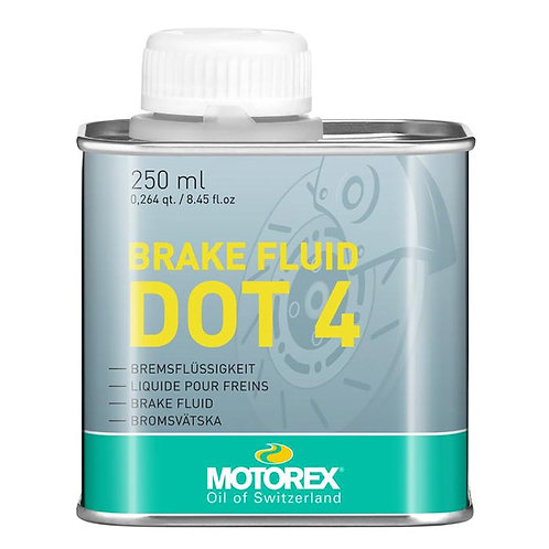 Olio freni MOTOREX BRAKE FLUID DOT 4 250ml