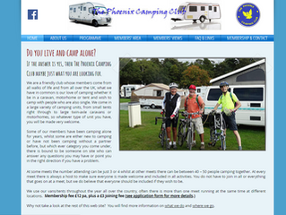 Phoenix Camping Club website needed a fresh, updating look...