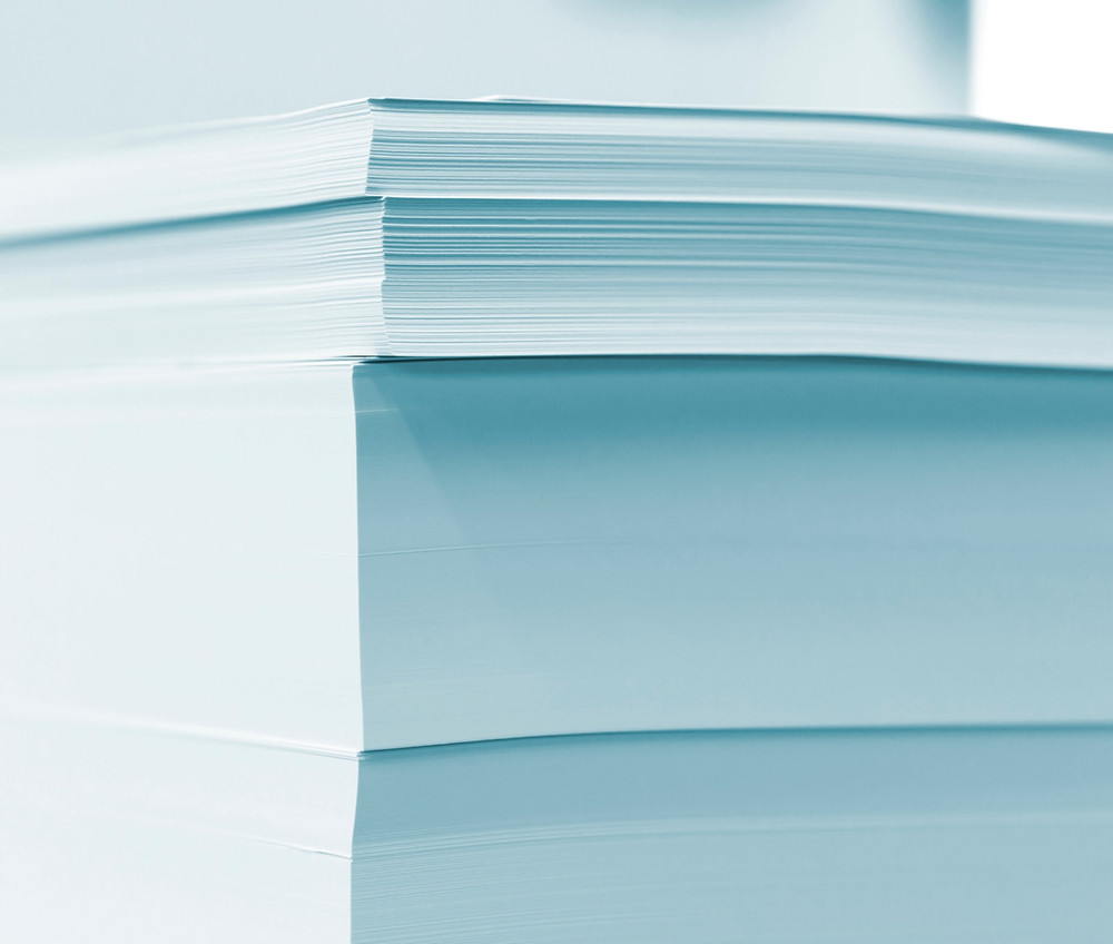 Stacks of documents in divorce discovery