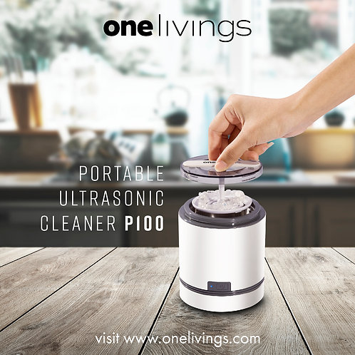 ONELIVINGS PORTABLE ULTRASONIC CLEANER P100 (220V-240V)
