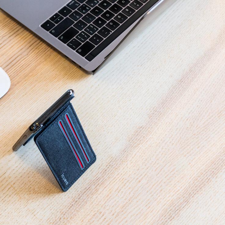 ICUERO Wallet Stand with minimalist design