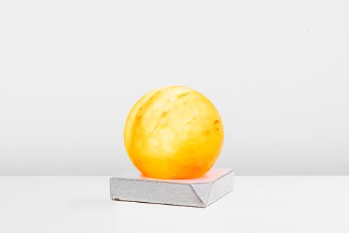 Sphere with Sandy White Square Ceramic Base