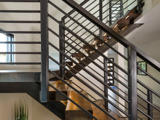 Custom Floating Steel Stair System