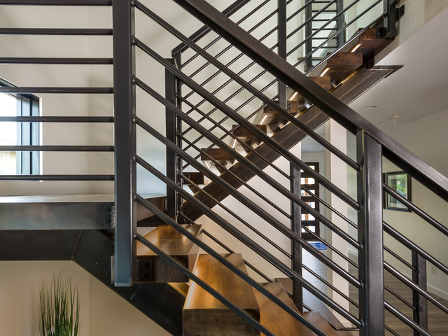 Custom Floating Steel Stair System