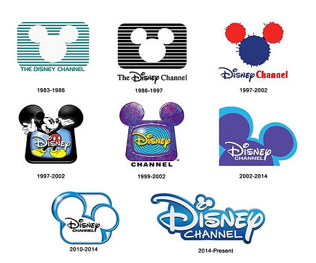 Disney Channel logo evolution