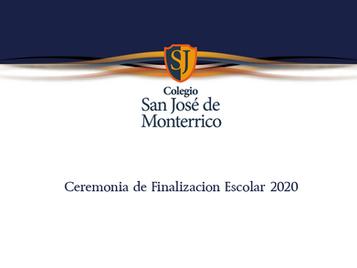 Ceremonia de Finalización etapa Escolar 2020