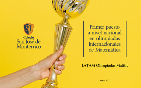 1er puesto Nacional y 4to puesto Internacional en Olimpiadas de Matemática Latam Matific