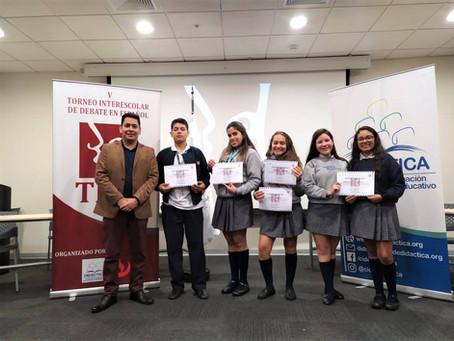 Semifinalistas Torneo Interescolar de Debate en Español 2019
