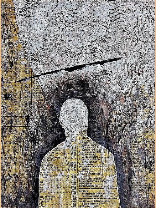 Yellow Man - 11,5 x 15,5 x 3 cm