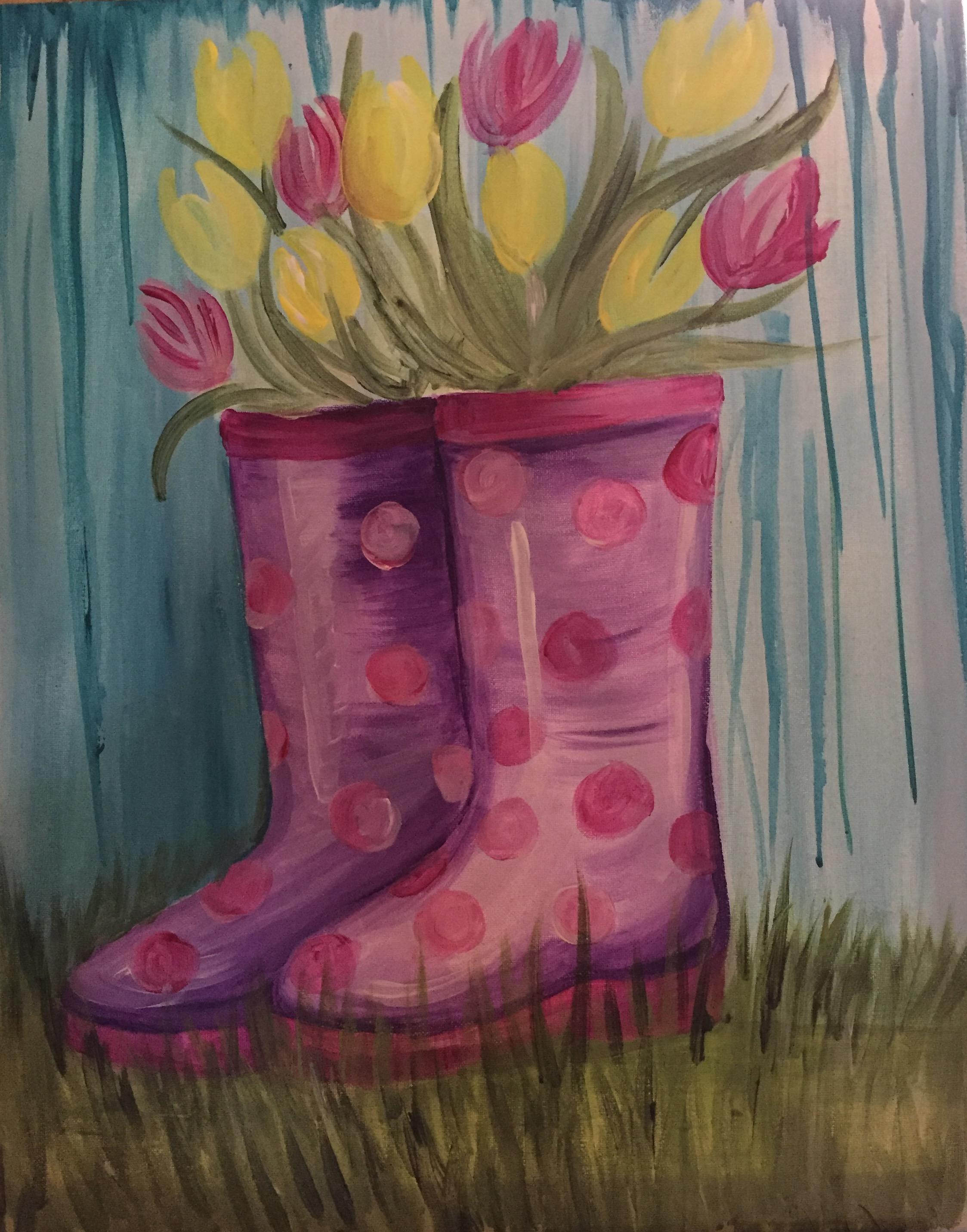 Rainboots and Tulips