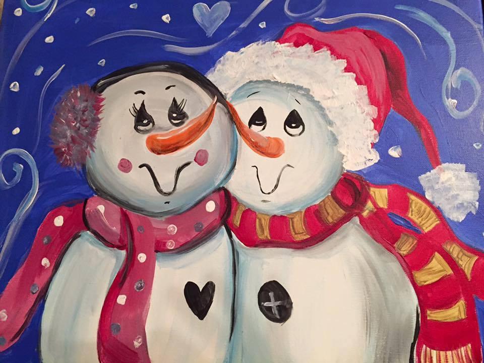 Snuggling Snowmen