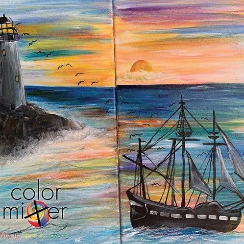 Brandys privates couples paint class Nov 13th 1pm Color Mixer Studio