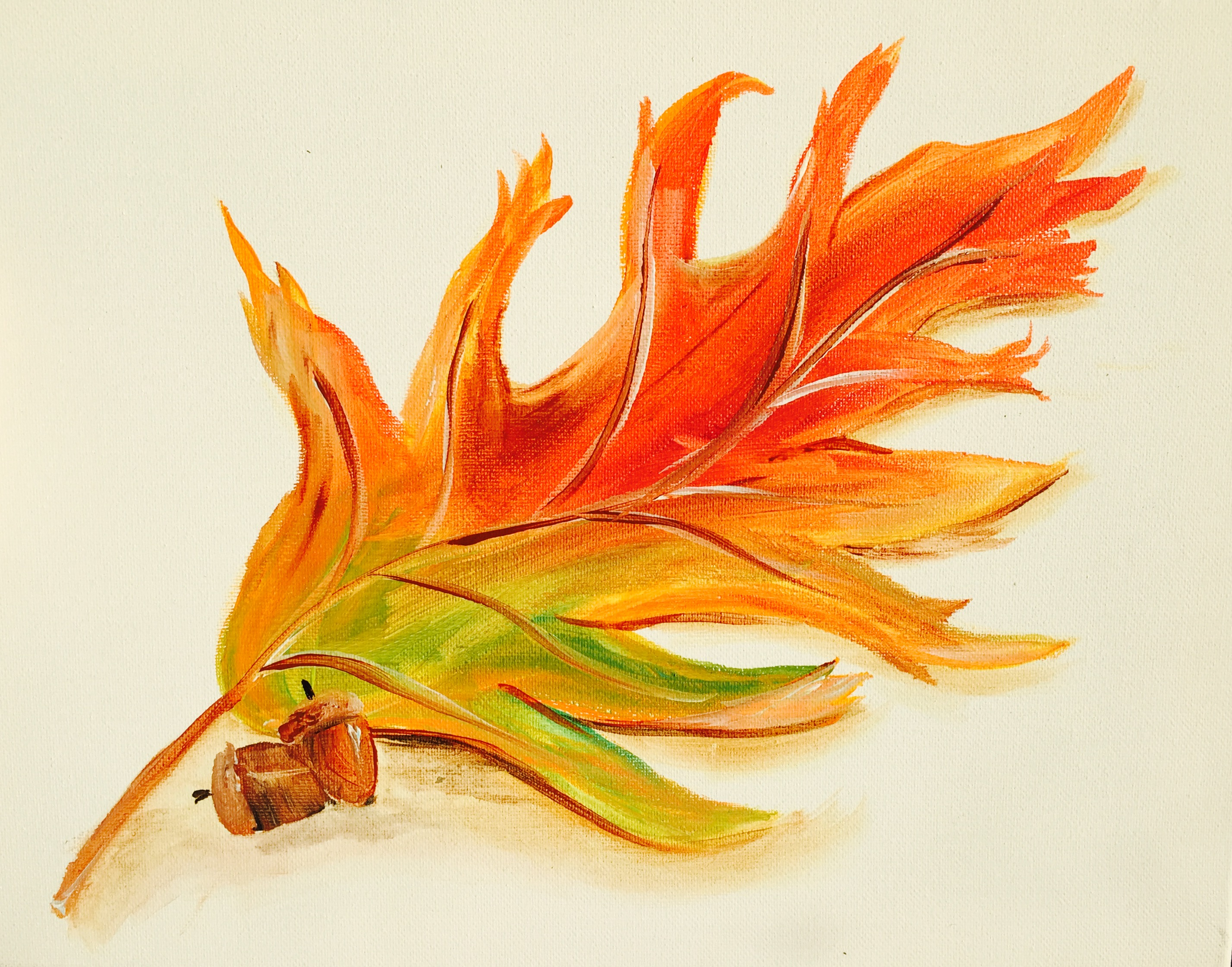 Oak Leaf ( small canvas)