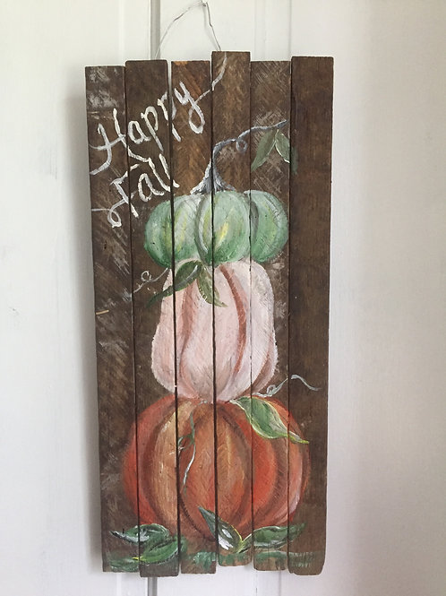 Happy Fall Wooden Sign October 8th 6pm Friendship Community Church
