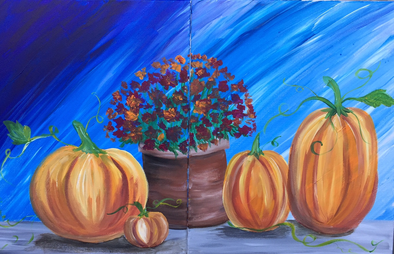 October Decor ( Couples Painting)