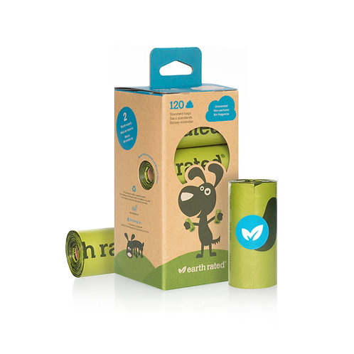 EARTH RATED Sacchetti igenici biodegradabili
