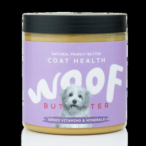 WOOF BUTTER Pelo sano - Burro di arachidi per cani
