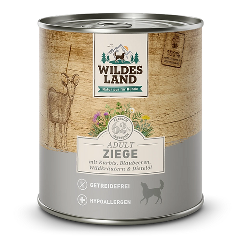 WILDES LAND  Umido cane apra con zucca, mirtilli, erbe selvatiche 800gr