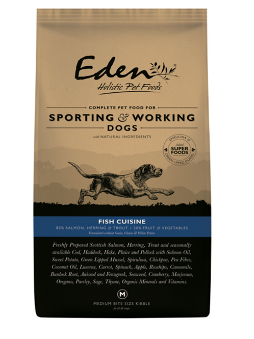 Eden FISH Cuisine - Working Dog Food 15KG