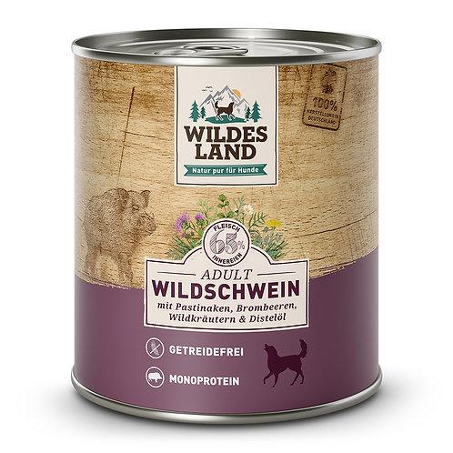WILDES LAND  Umido cane Cinghiale, pastinaca, more e erbe selvatiche 800gr