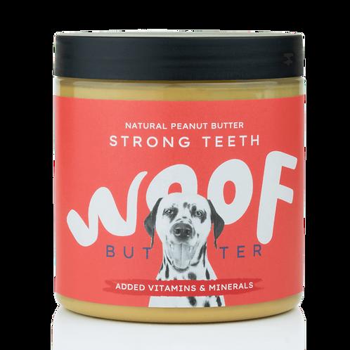 WOOF BUTTER denti forti - Burro di arachidi per cani