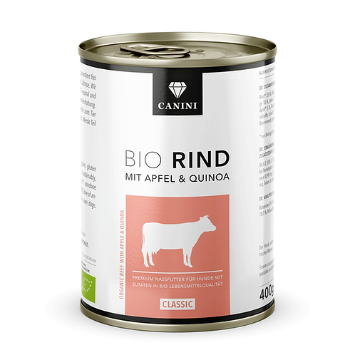 CANINI Cibo umido Biologico Manzo, mela e quinoa