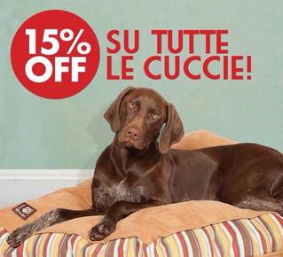 Sconto del 15% su tutte le cuccie per tutto giugno!