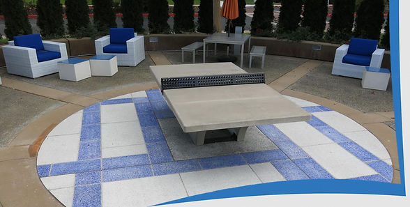 Outdoor Concrete Table Tennis Table