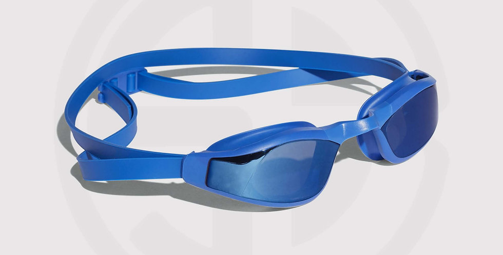 Adidas Persistar Race, mirrored swim goggles, for swimming races - blue