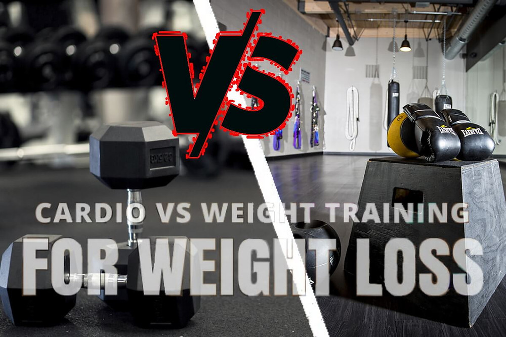 Cardio versus weight training for weight loss.