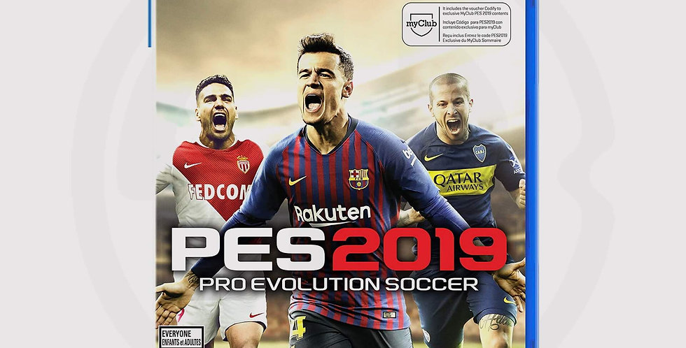 PES 2019 on PS4, cover