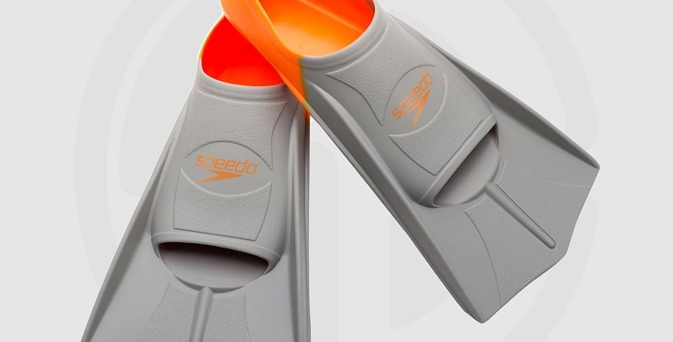 Speedo Multicolored Short Blade Training Fin - XXS | Orange | Size: 32-33 (Youth