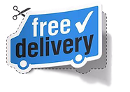Icon Free Delivery, Blue Car
