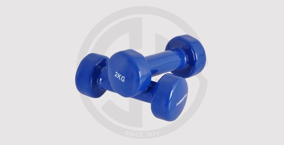 Neoprene Dumbbells in Blue color, 2 kg - 140 EGP