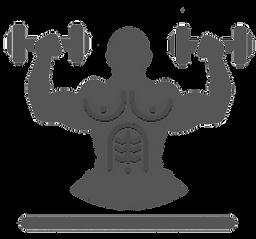 Dumbbells, Bodybuilding Clipart icon