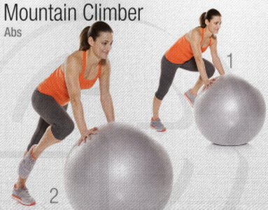 Mountain Climber Stability Ball Circuit Workout
