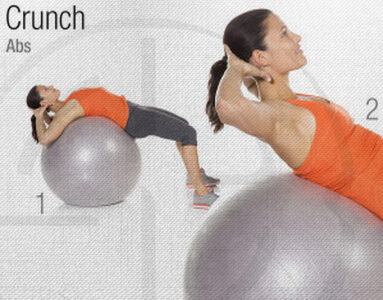Ab Crunch Stability Ball Circuit Workout