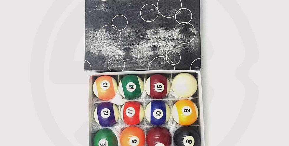 Standard american Billiard ball set, box