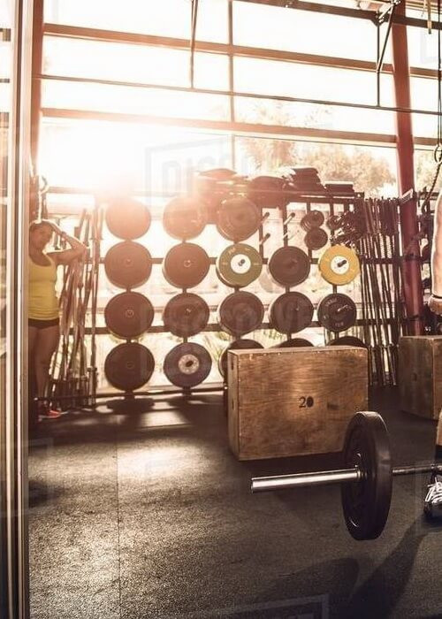 Olympic Weight Lifting Bar & Weight Plates