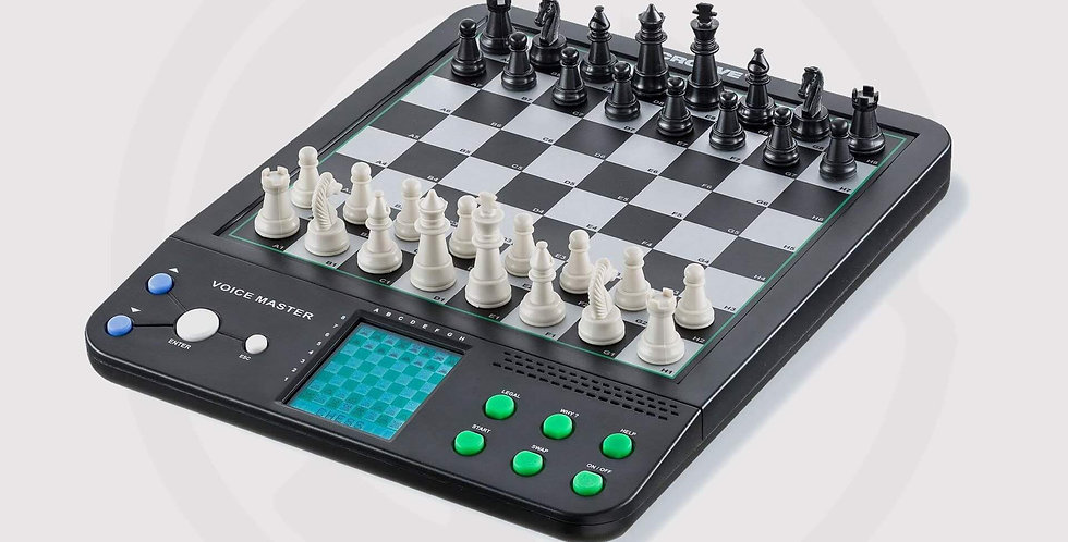 Talking Electronic Chess tabletop tutor - Chess 8-in-1