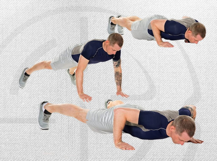 10 In Out Power Push-Ups
