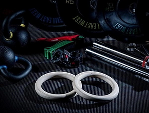 Gymnastic Rings - Free Weights & Barbell