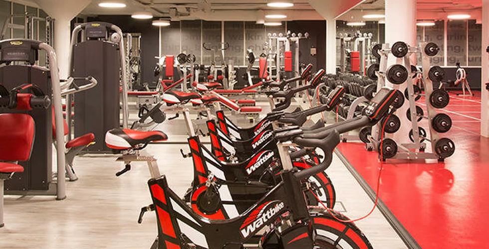 Doing Cardio Exercise With Bike & Doing